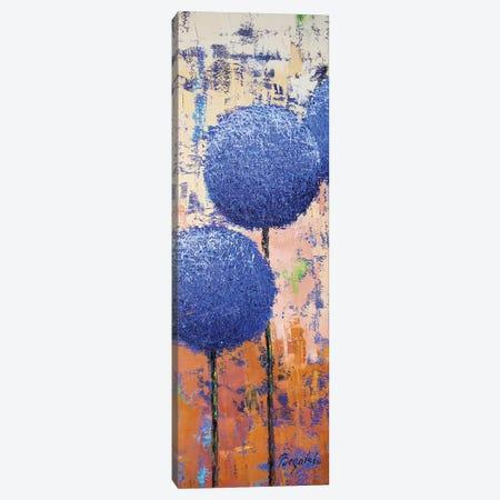 Allium Indigo Canvas Print #OBO2} by Olena Bogatska Canvas Artwork