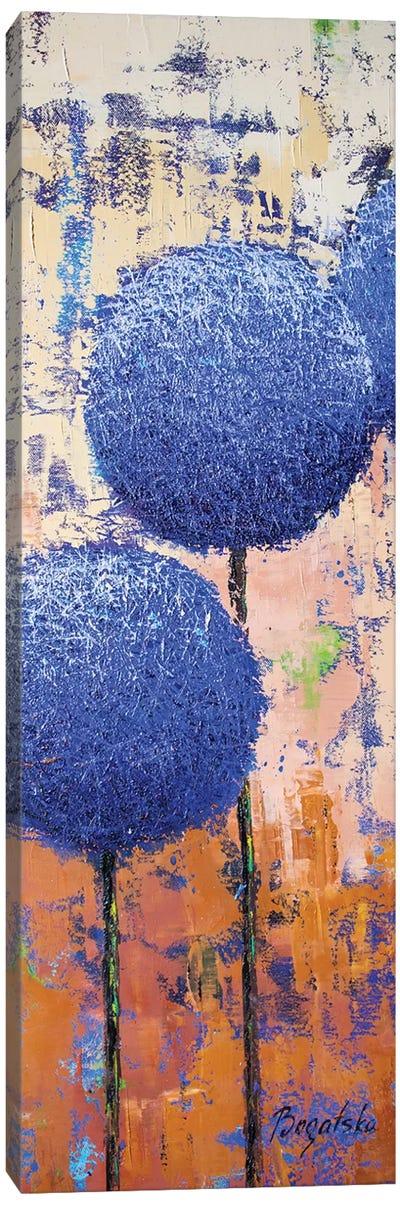 Allium Indigo Canvas Art Print