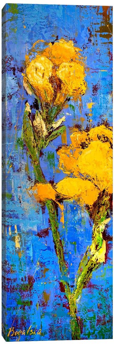 Gold Iris Canvas Art Print