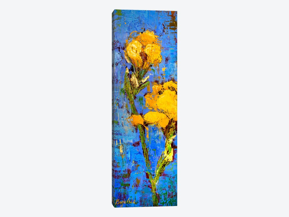 Gold Iris by Olena Bogatska 1-piece Canvas Artwork