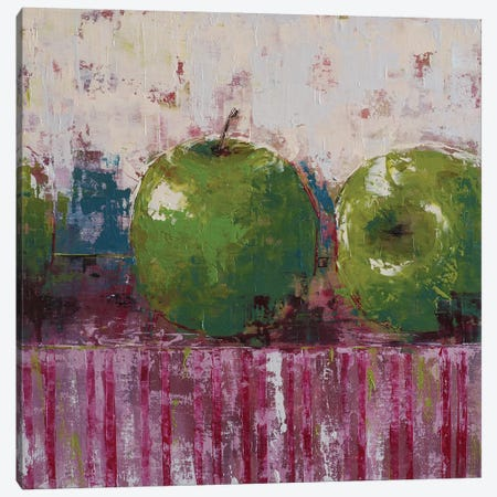 Green Apples Canvas Print #OBO35} by Olena Bogatska Canvas Artwork