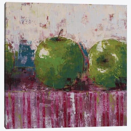 Green Apples Canvas Print #OBO35} by Olena Bogatska Canvas Artwork