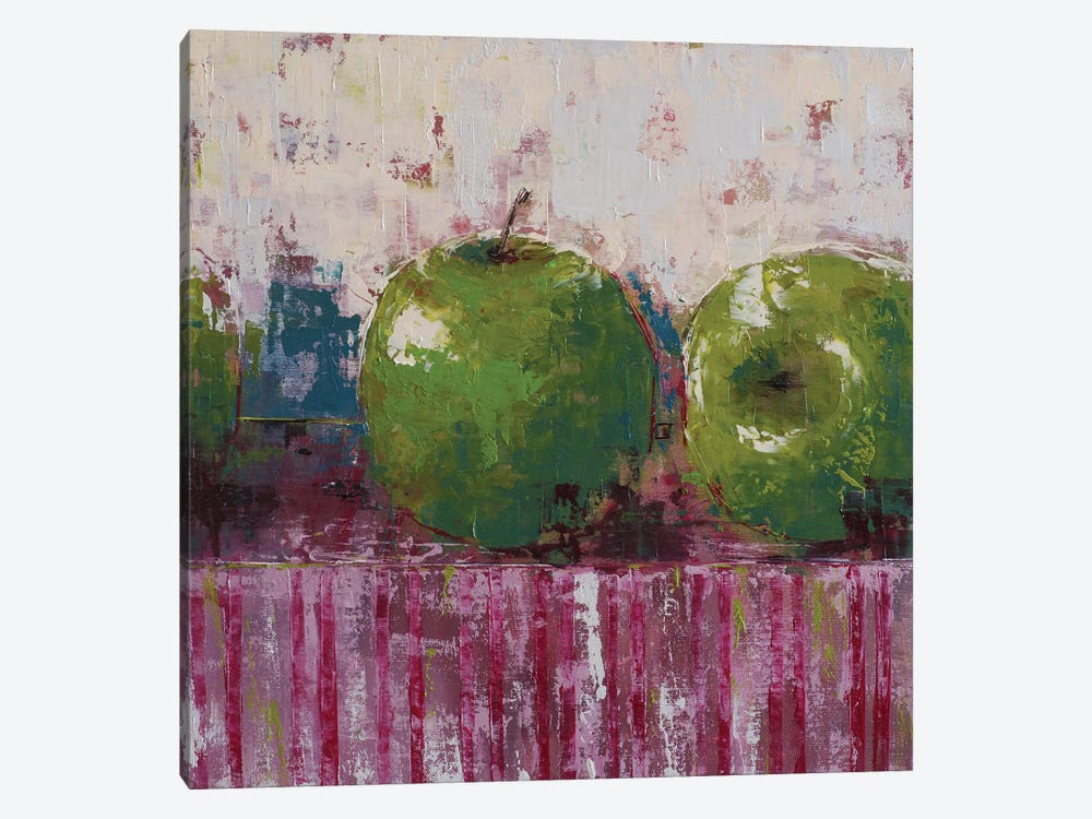 Green Apples by Olena Bogatska 1-piece Canvas Artwork