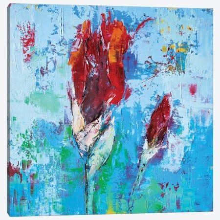 Iris Small III Canvas Print #OBO38} by Olena Bogatska Canvas Art Print