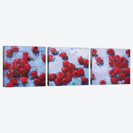 Cherry Triptych Canvas Print Set #OBO3HSET001} by Olena Bogatska Canvas Art Print