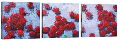 Cherry Triptych Canvas Art Print