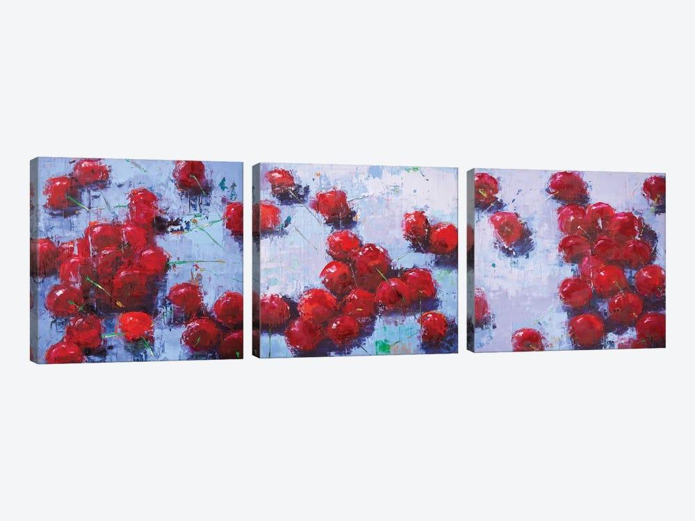 Cherry Triptych by Olena Bogatska 3-piece Canvas Wall Art