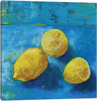 Lemons Canvas Art Print
