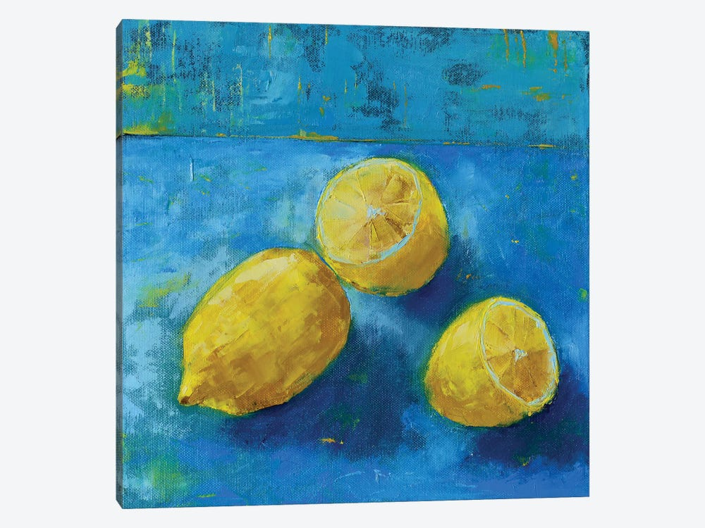 Lemons by Olena Bogatska 1-piece Canvas Print