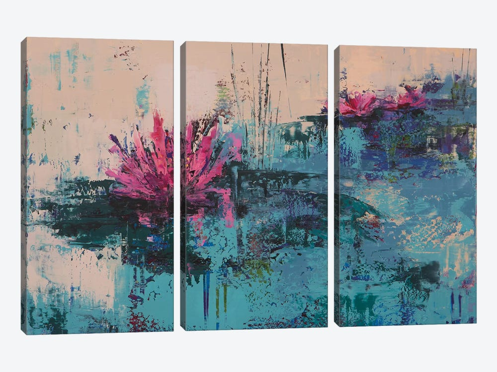 Lily I by Olena Bogatska 3-piece Canvas Art