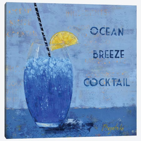Ocean Breeze Cocktail Canvas Print #OBO47} by Olena Bogatska Canvas Print