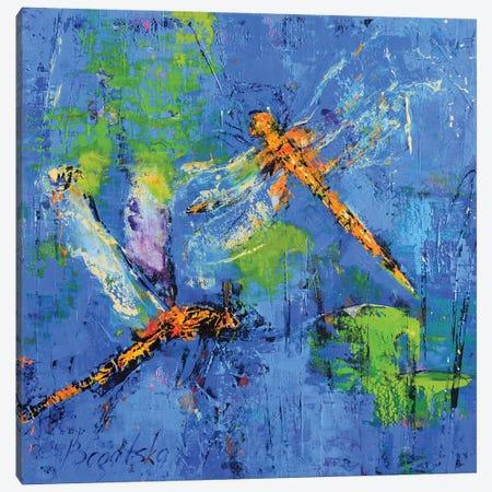 Orange Dragonflies Canvas Print #OBO48} by Olena Bogatska Canvas Wall Art