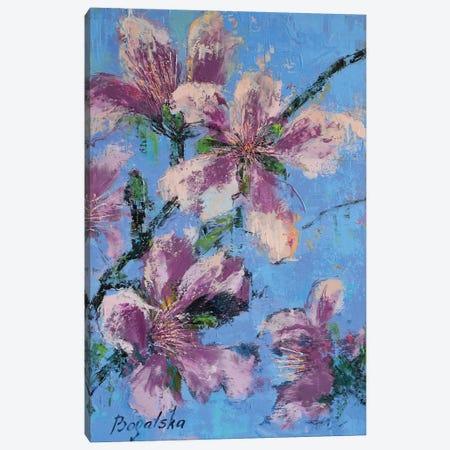 Purple Blossom Canvas Print #OBO56} by Olena Bogatska Canvas Wall Art