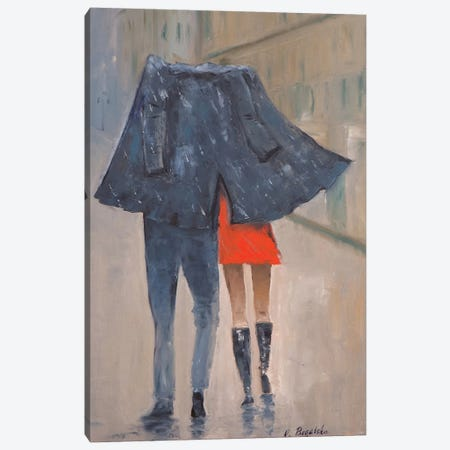 Rain Canvas Print #OBO57} by Olena Bogatska Canvas Wall Art