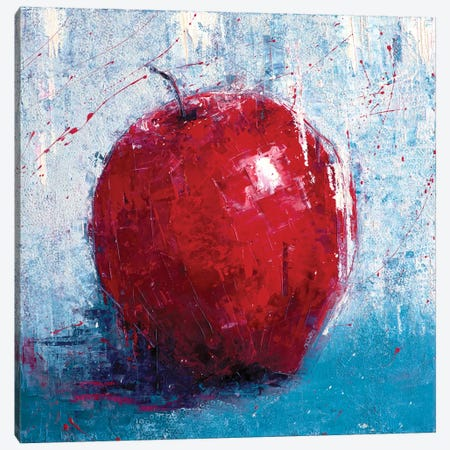 Red Apple Canvas Print #OBO59} by Olena Bogatska Art Print