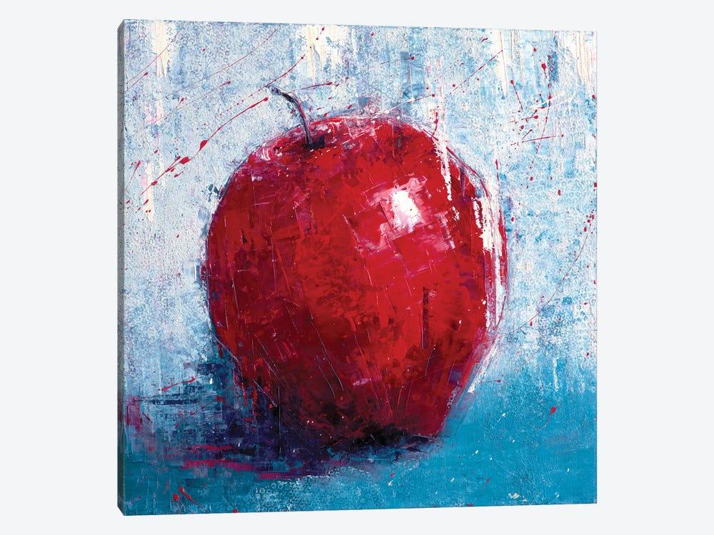 Red Apple by Olena Bogatska 1-piece Canvas Art