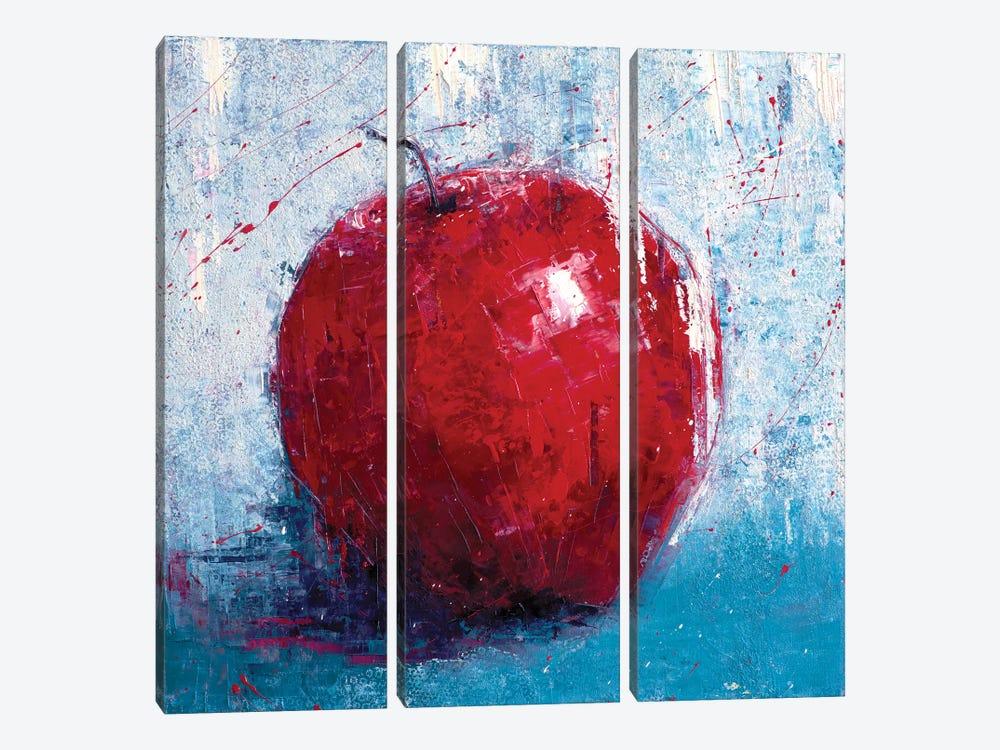 Red Apple by Olena Bogatska 3-piece Canvas Art