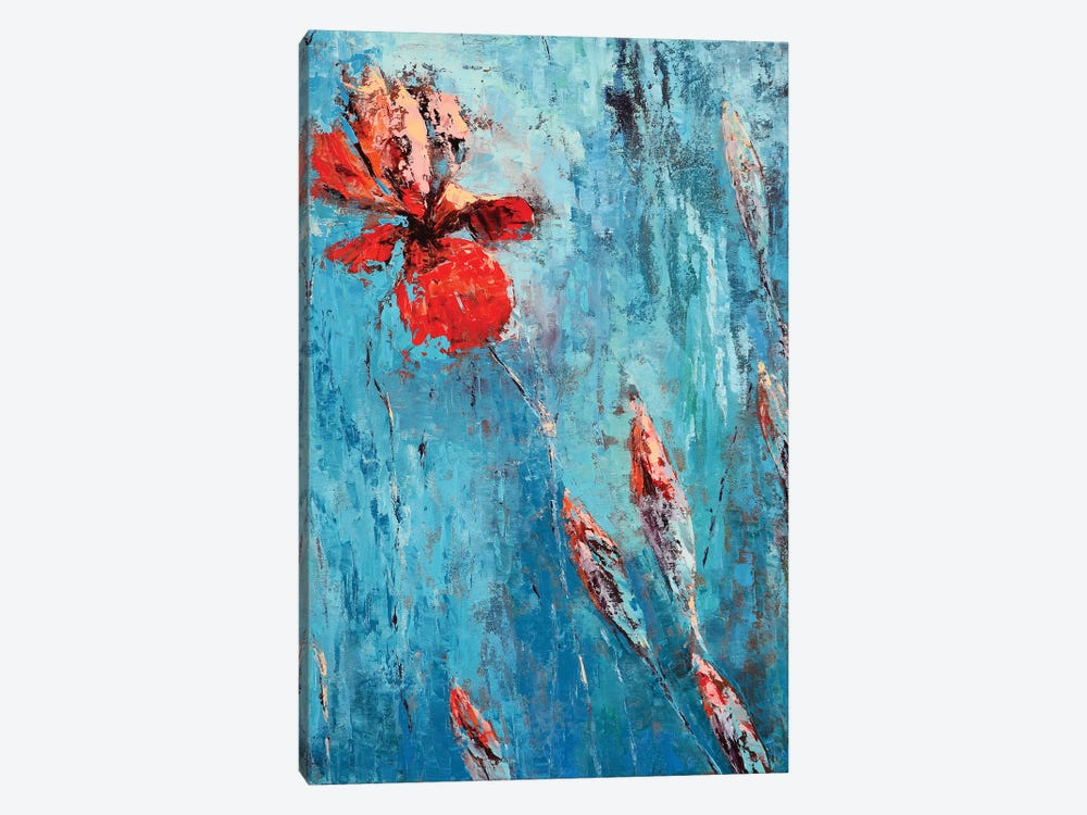 Red Iris I by Olena Bogatska 1-piece Canvas Artwork
