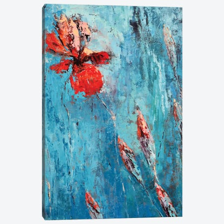 Red Iris I Canvas Print #OBO60} by Olena Bogatska Canvas Art