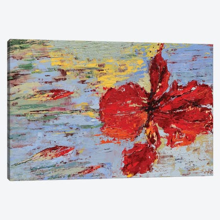 Red Iris II Canvas Print #OBO61} by Olena Bogatska Canvas Wall Art