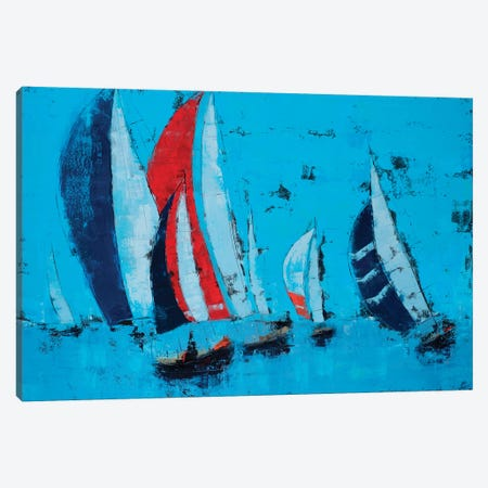 Sail Race Canvas Print #OBO62} by Olena Bogatska Canvas Art