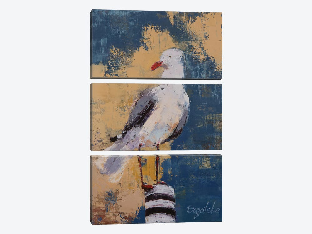 Seagull I by Olena Bogatska 3-piece Canvas Art
