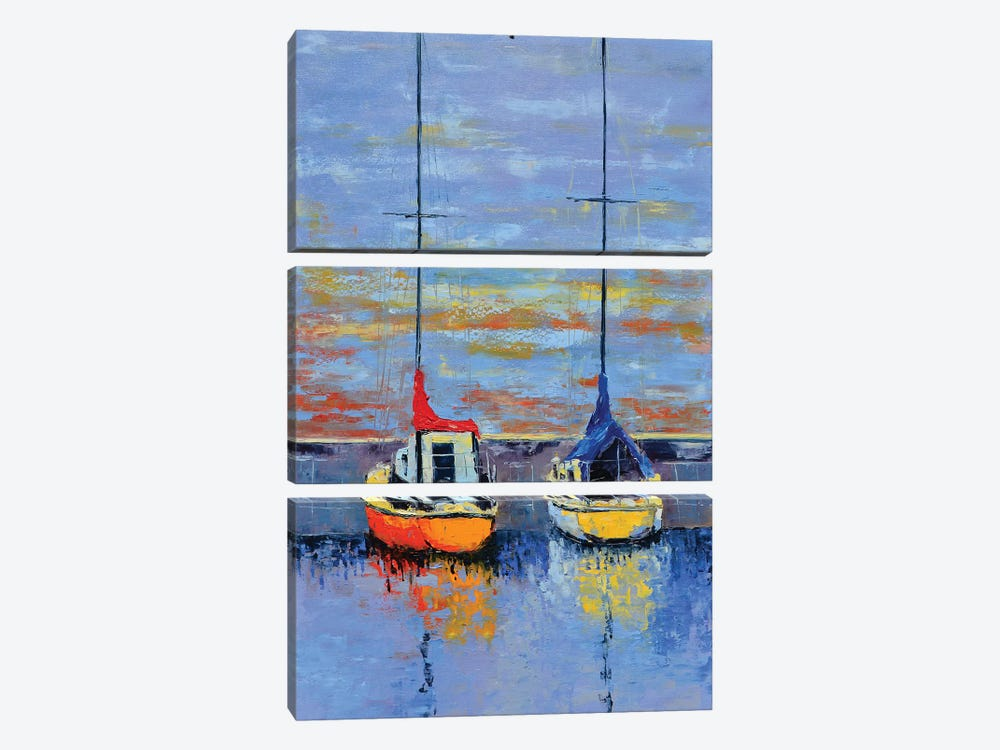 Waiting For The Wind by Olena Bogatska 3-piece Canvas Art Print
