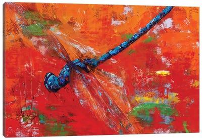 Blue Dragonfly Canvas Art Print