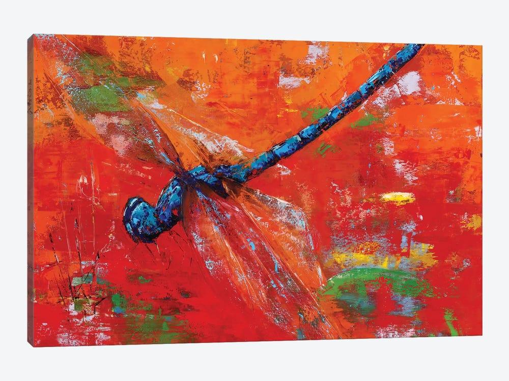 Blue Dragonfly by Olena Bogatska 1-piece Canvas Wall Art
