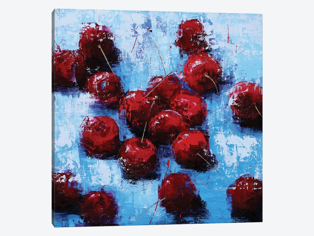 Cherry V by Olena Bogatska 1-piece Canvas Print