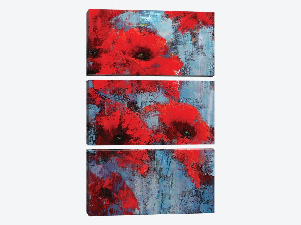 Poppyseed by Olena Bogatska 3-piece Canvas Artwork
