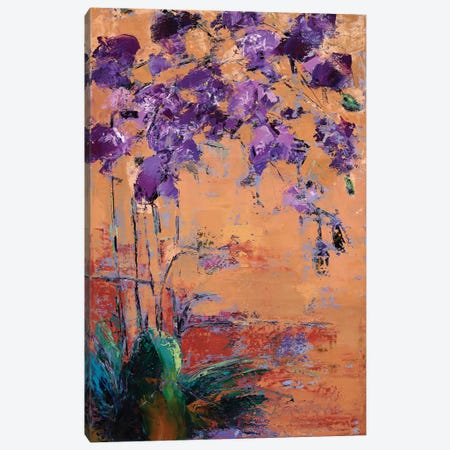Purple Orchid Canvas Print #OBO94} by Olena Bogatska Canvas Wall Art