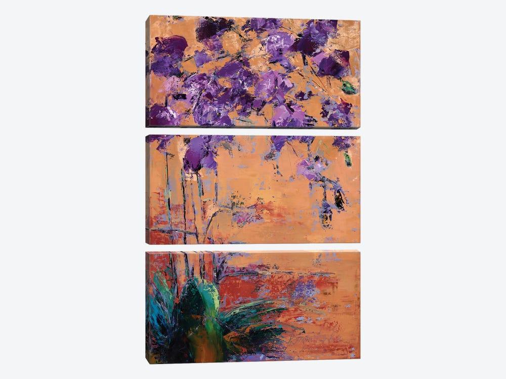 Purple Orchid by Olena Bogatska 3-piece Art Print