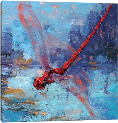 Red Dragonfly I Canvas Art Print
