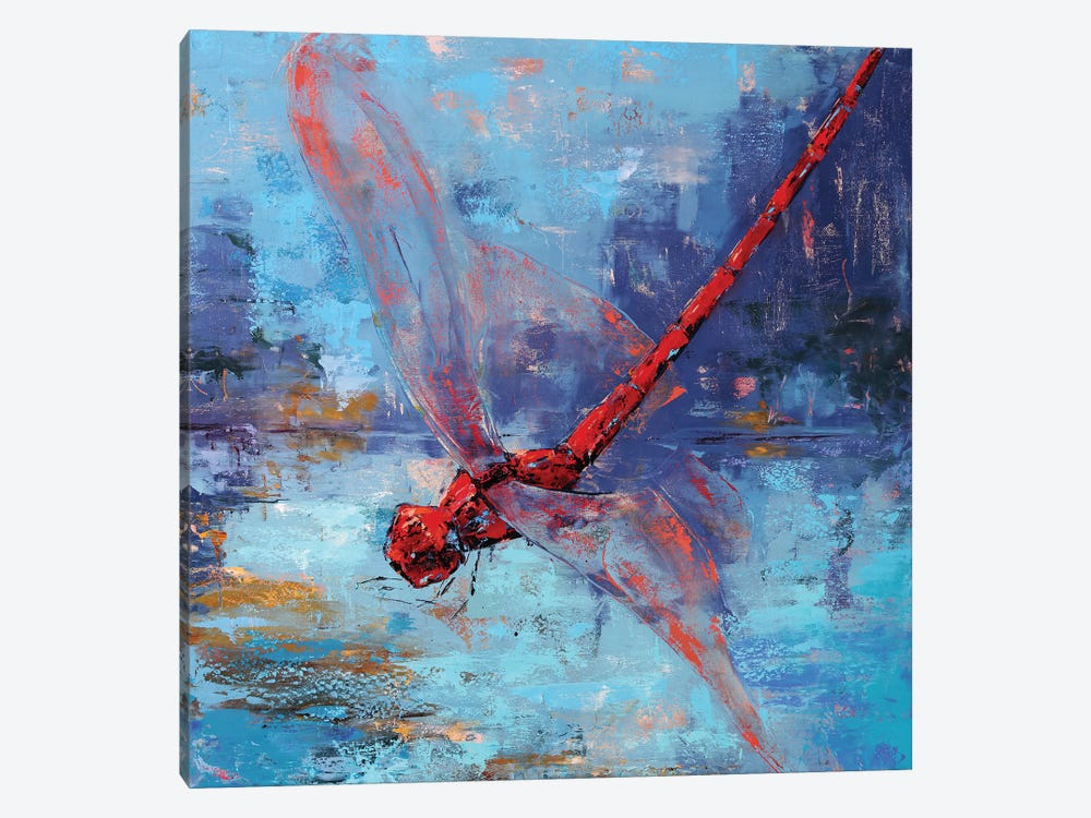 Red Dragonfly I 1-piece Canvas Wall Art