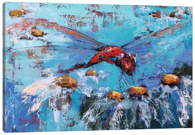 Red Dragonfly II Canvas Art Print