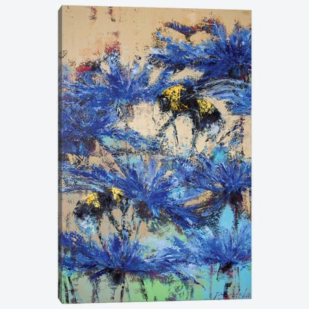 Beesy Day Canvas Print #OBO9} by Olena Bogatska Canvas Art