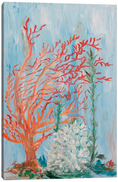 Painterly Coral I Canvas Art Print