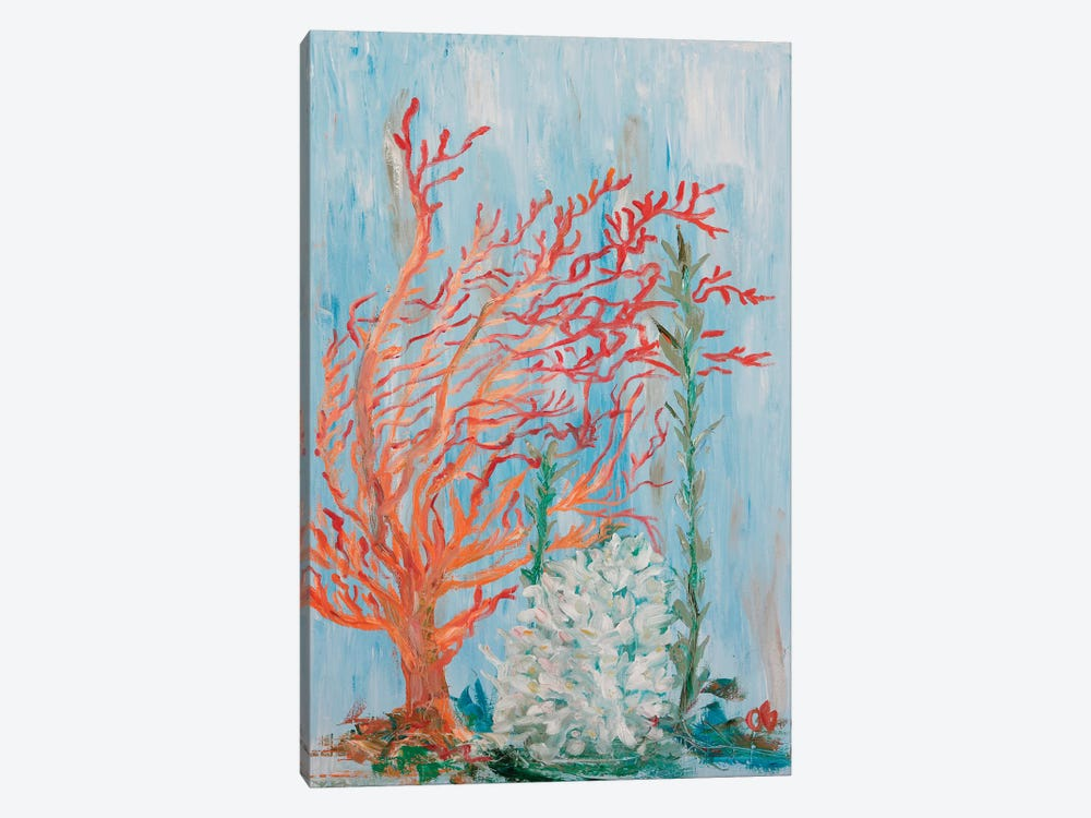 Painterly Coral I by Olivia Brewington 1-piece Canvas Wall Art