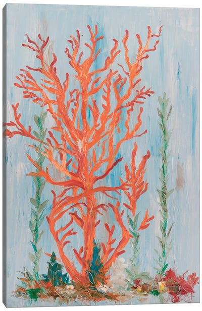 Painterly Coral II Canvas Art Print