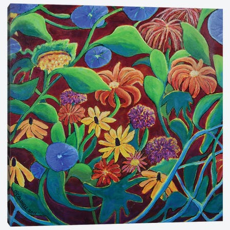 Circular Moving Garden Canvas Print #OCN12} by James O'Connell Canvas Print
