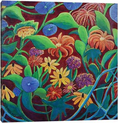 Circular Moving Garden Canvas Art Print