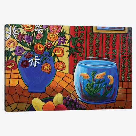 Counter Of Plenty Canvas Print #OCN14} by James O'Connell Canvas Art