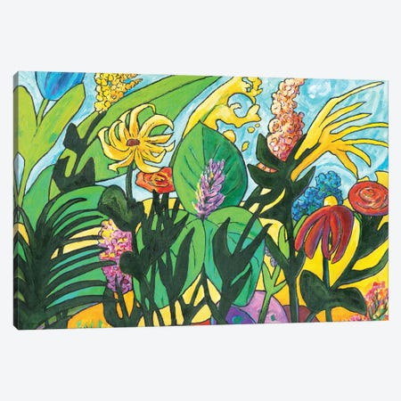 Evening Garden Canvas Print #OCN20} by James O'Connell Canvas Artwork