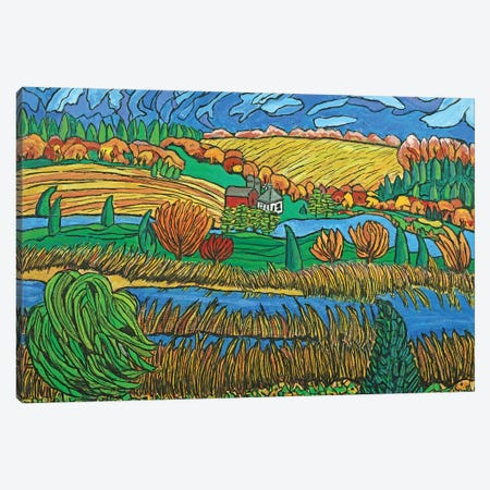 Fields Of Scandia Canvas Print #OCN24} by James O'Connell Canvas Art Print