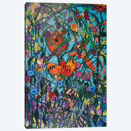 Garden Pond With Fish Canvas Print #OCN27} by James O'Connell Canvas Art Print