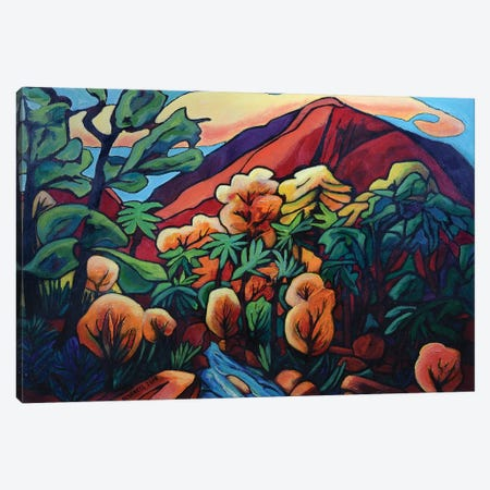 Island Fall 3-Piece Canvas #OCN33} by James O'Connell Art Print
