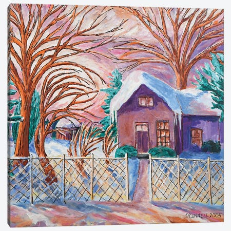 Minneapolis Winter Living Canvas Print #OCN43} by James O'Connell Canvas Artwork