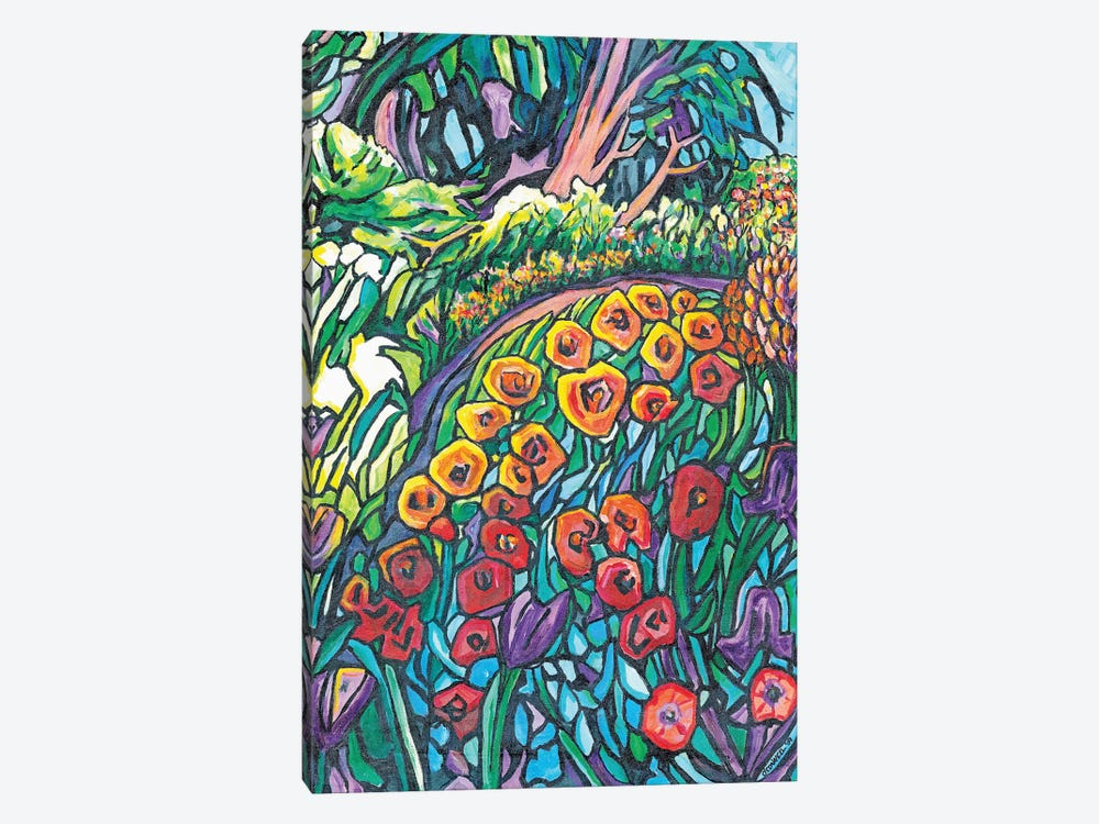 Mosaic Garden by James O'Connell 1-piece Canvas Print