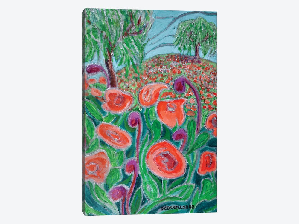 Pepper Trees And Poppies by James O'Connell 1-piece Canvas Artwork